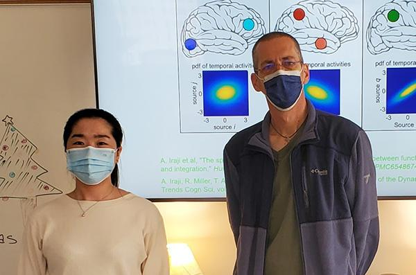 Covid-19 patients who receive oxygen therapy or experience fever show reduced gray matter volume in the frontal-temporal network of the brain, according to a new study led by researchers at Georgia State University and the Georgia Institute of Technology.