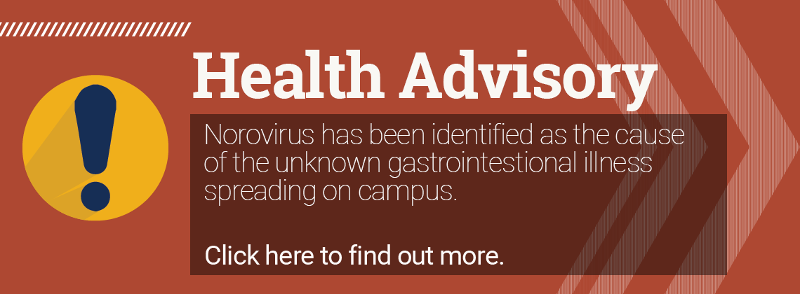 health advisory for gastrointestinal illness spreading on campus
