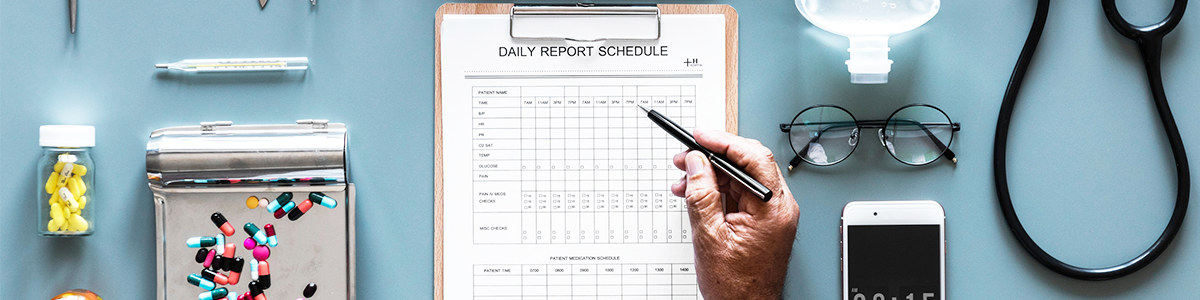 Daily Report Schedule Notepad