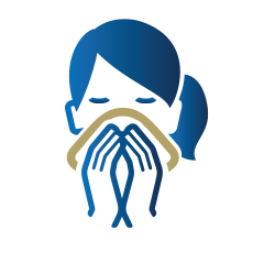 icon of person covering a sneeze with a cloth