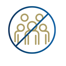 icon of several people with barred circle