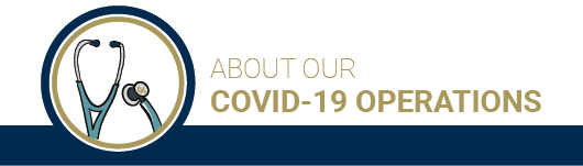 About our operations under Covid-19